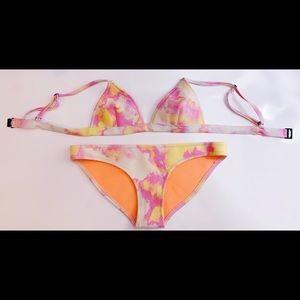 Triangl Bibi Marr Pink Tie Dye Bikini